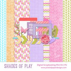Scrapbooking digital gratuito mini kit - Sombras de juego