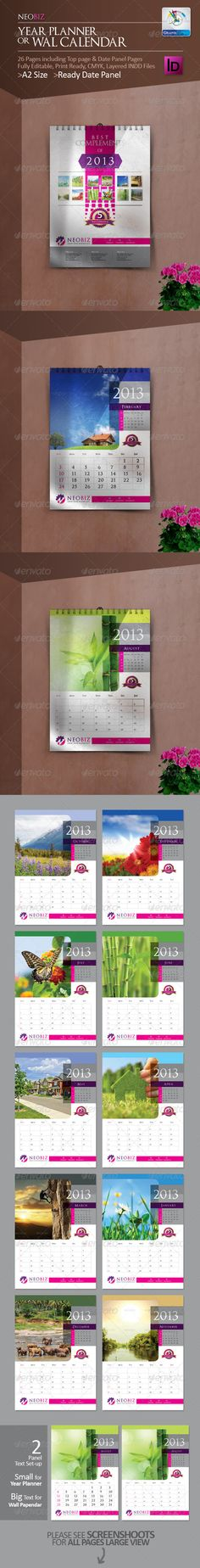 Wall Calendar   Calendar  Fonts And Calendar Design