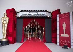 Hollywood + Oscars Birthday Party Entrance to a Hollywood + Oscar's Inspired Birthday Pa Oscar Party, 16th Birthday, 1st Birthday Parties, Themed Parties, Diy Birthday, Birthday Ideas, Hollywood Thema, Deco Cinema, Broadway Theme