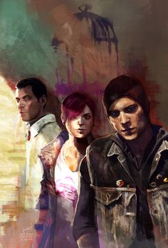 Infamous Second Son... Looks like some sort of painting... .u. Nifty... -Will