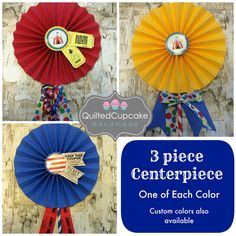 Carnival Centerpiece for Circus Birthday Party. by QuiltedCupcake