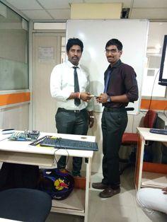 Well grooming engineer Mr. Abhishek from 385 batch. Congrats Mr Abhishek.
