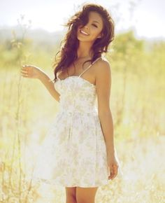 Wavy, dark hair and a white sundress -- absolutely love it!