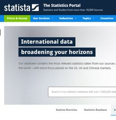A statistics portal aggregating from 18,000 sources.