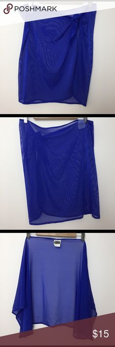 Swim Systems Coverup Wrap Royal blue coverup wrap. Tie waist.  80% nylon and 20% spandex.  Excellent condition.  No trades. Swim Systems Swim Coverups