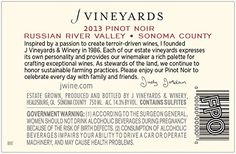 2013 J Vineyards  Winery Russian River Valley Pinot Noir Red Wine 750mL ** Find out more about the great product at the image link.