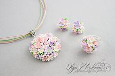 Establecer con las flores de la arcilla del polímero por polyflowers en DeviantArt