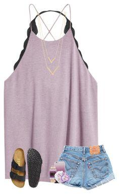 511d685d069 summer  outfits   Grey Tee + Denim Shorts