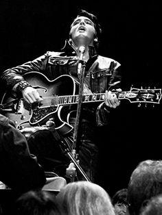 Elvis Presley in his '68 Comeback Special, December 1968.