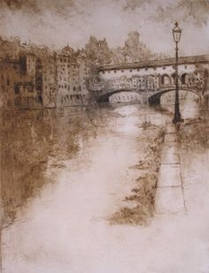 Michael Bond - dry point etchings