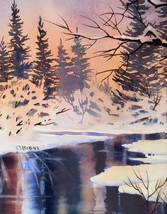 Snow Patterns Painting - Snow Patterns by Teresa Ascone