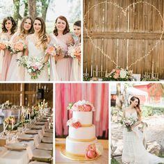 A Romantic Modern Vintage Wedding with an Elegant Barn Reception