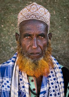 Afar tribe elder with red beard, Afar region, Assayta, Ethiopia | by Eric Lafforgue