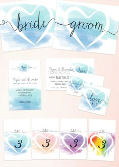 Watercolor Strokes Wedding Invites