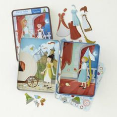 Magnetic Tins (Fairytales) - She is too young for these now but I want to pin them so I can remember them when she is a bit older.
