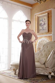 fancyflyingfox.com Offers High Quality Delicate Shallow Sweetheart Neckline A-line Full Length Brown Plus Size Bridesmaid Dresses ,Priced At Only US$168.00 (Free Shipping)