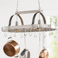 Pots And Pans Hanging Rack Bronze Rustic Wood Chandelier 4