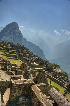 The Central Plaza of Machu Picchu