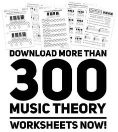 Free Music theory Worksheets, Scales, Chords, Keys and Note Identification etc Music Theory Piano, Music Theory Games, Music Theory Lessons, Music Theory Worksheets, Piano Lessons, Piano Music, Free Worksheets, Music Music, Guitar Lessons