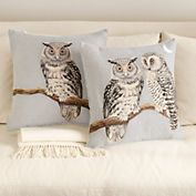 Tapestry Owl Pillows -- gumps.com