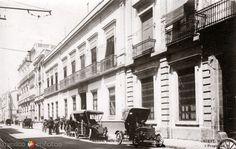 CasadePorfirioDíaz,enlaCalleCadena. Ciudad de México(fotoMiret,c.1908).