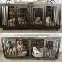 Double doggie den! Check out our website! Www.bbkustomkennels.com