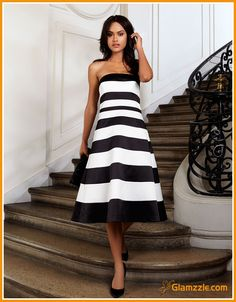 Perfect Outing Striped Tube Dress For Skinny Girls