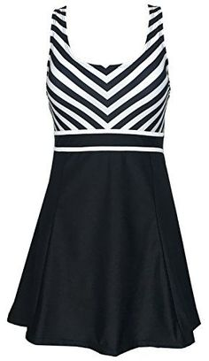 Shop a great selection of DANIFY Women's One Piece Sailor Striped Swimsuit Plus Size Swimwear Cover Swimdress. Find new offer and Similar products for DANIFY Women's One Piece Sailor Striped Swimsuit Plus Size Swimwear Cover Swimdress. Plus Size Tankini, Plus Size Swimwear, Women's One Piece Swimsuits, Women Swimsuits, Slimming Bathing Suits, Plus Size Fashion Tips, Striped One Piece, Striped Swimsuit, One Piece For Women