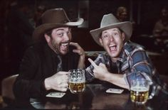 Good time bro-mance Crowley and Dean!