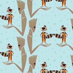 We are Groot fabric by spicysteweddemon on Spoonflower - custom fabric