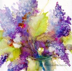 """Lilacs"" - Original Fine Art for Sale - © Pamela Harnois"