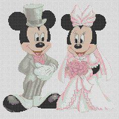Cross-stitch-chart-mickey-mouse-and-minnies-wedding-FlowerPower37-UK