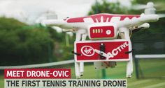Drone-ovic: Tennis Training Drone with 4K Camera