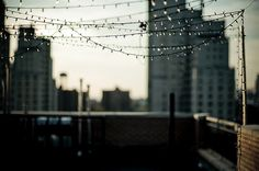 city rooftop lights - One of my dreams is to have a roof access apartment in a large city :)