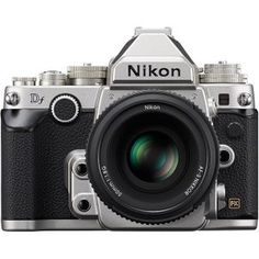 I so want this camera for myself. You can use all the old Nikon lenses with it (so that they are fully functional). Love the retro look and I miss having a Nikon camera with me. Nikon Dslr, Reflex Numérique Nikon, Nikon Film Camera, Nikon Cameras, Nikon Lenses, Camera Tripod, Full Frame Camera, Photography Gear, Photography Equipment