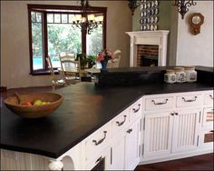 Soapstone counters. The Good:Because of the high talc content found naturally within the mineral, soapstone is a very soft material. Has a smooth, soft feel. ...