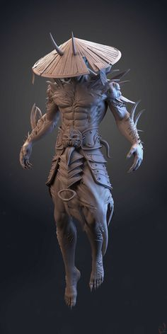Title: Japanese ancient warrior Name: hi guys i have to share my personal project based on amazing troll juncha concept .recently i m working on lowpoly. hope you guys like it. Zbrush Character, 3d Model Character, Character Modeling, Fantasy Character Design, Character Design Inspiration, Character Concept, Character Art, Anatomy Sculpture, Sculpture Art