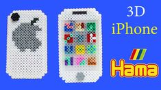 iPhone 3D con Hama Beads /DIY Perler Beads Iphone Tutorial