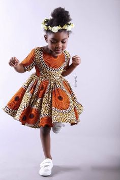 Ankara Xclusive: Latest Ankara Styles: Ankara Styles For Kids That Will Blow your Mind Ankara Styles For Kids, African Dresses For Kids, African Children, African Print Dresses, African Women, Girls Dresses, Latest Ankara Styles, African Prints, African Clothes