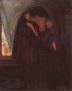 paintings | Edvard Munch Gallery > Love Paintings > The Kiss