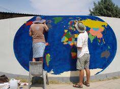 Imagini pentru drawings world map on the wall