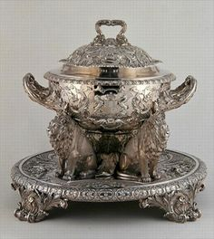 .          Soup Tureen, made by Rundell, Bridge and Rundell, 1816 (silver) British.