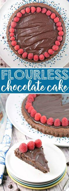 Flourless Chocolate Cake: A rich, one bowl flourless chocolate cake, perfect for Passover, a gluten-free birthday cake, or just because it's a Tuesday. {Bunsen Burner Bakery} #chocolatecake #flourlesscake #glutenfree #valentines #passover via @bnsnbrnrbakery