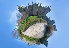 This is a 360 degree shot stitched together to make a small world. Photo by Jim Harmer