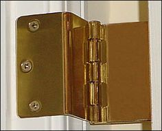 Swing Away Expandable Offset Door Hinges - Great item when moving a elderly person into your home. It enables them to use their wheelchair through tight doorways. #LifeSavor #Caregiver #GreatProduct