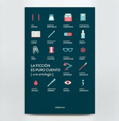 Book Design - La Ficción es Puro Cuento by Lia Martini, via Behance