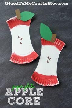 Paper Plate Apple Core - Kid Craft Idea