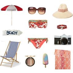 """beach look"" by yiwen-wu on Polyvore"