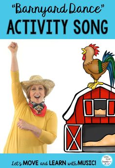 "Move and dance in this farm animal song and farm animal movement activity with Sandra and the farm animals as she sings and dances to ""Come on Down to the Barnyard Dance"" Can you move like the farm animals?  Gallop Like A Horsie- Waddle Like A Duck— Skip Like A Goat— Hop Like A Bunny— Tip-Toe Like A Sheep— Sway Like A Chicken— Wiggle Like A Pig- Kindergarten Music Lessons, Preschool Music Activities, Class Activities, Preschool Ideas, Summer Activities, Family Activities, Movement Preschool, Movement Activities, Education Humor"