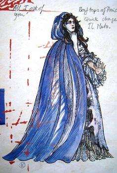 Detailed design of Christine's 'Countess' costume- Maria Bjørnson